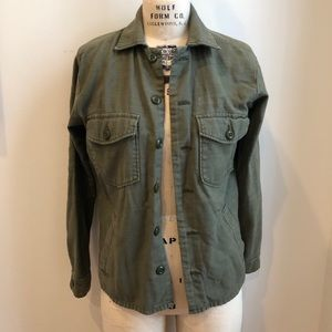 American Eagle Army Olive Green Military Jacket